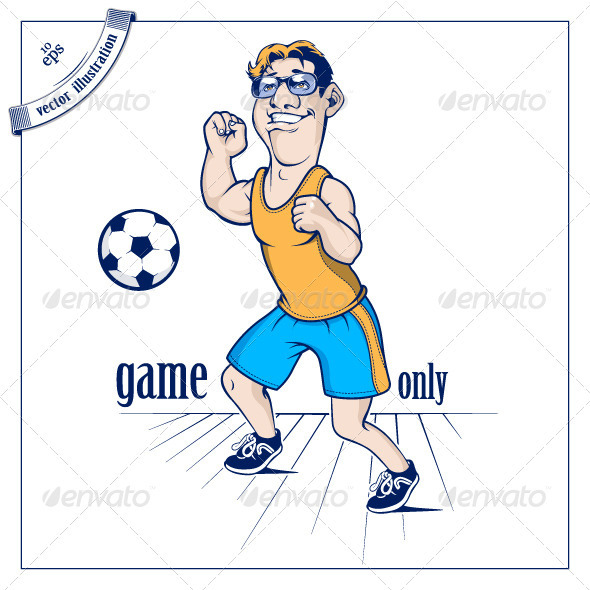 Football Man Character - People Characters