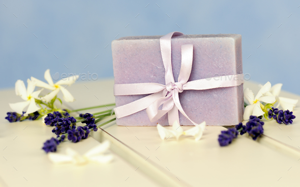 Soap of lavender - Stock Photo - Images