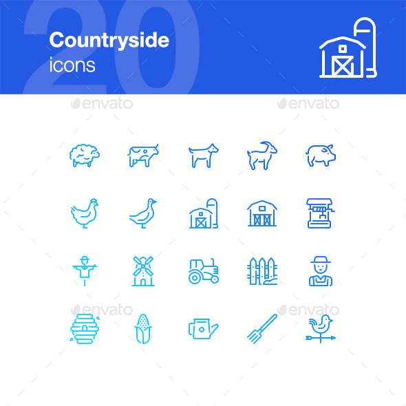 20 Countryside Icons - Miscellaneous Icons