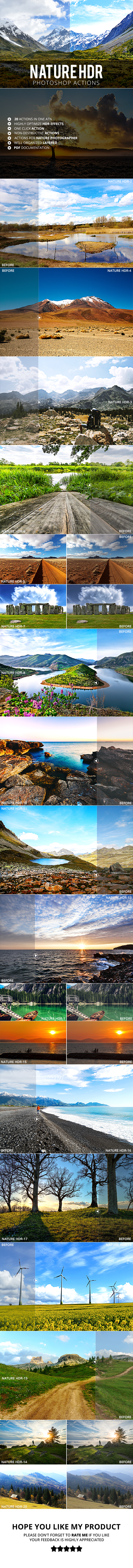 20 Nature HDR Photoshop Actions - Photo Effects Actions