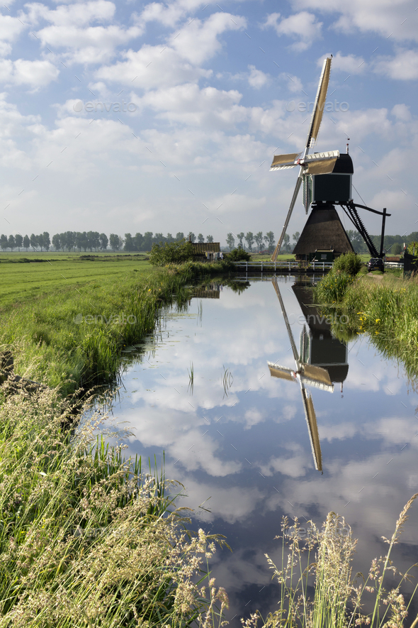 The Wingerdse mill near Bleskensgraaf - Stock Photo - Images