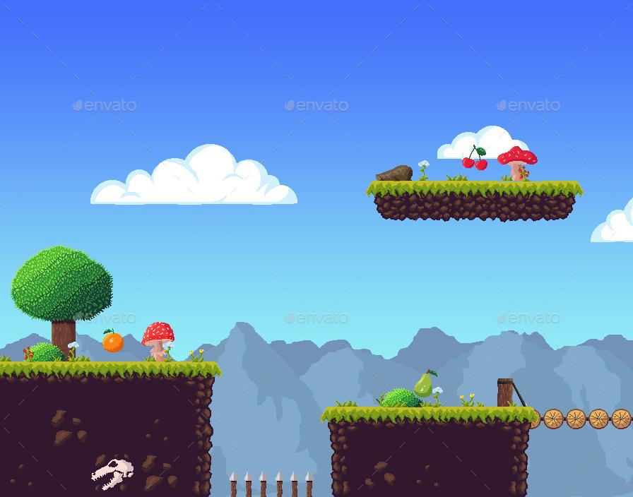 Tileset Platform Game Pixel Art