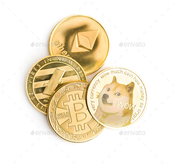 The various cryptocurrency. - Stock Photo - Images