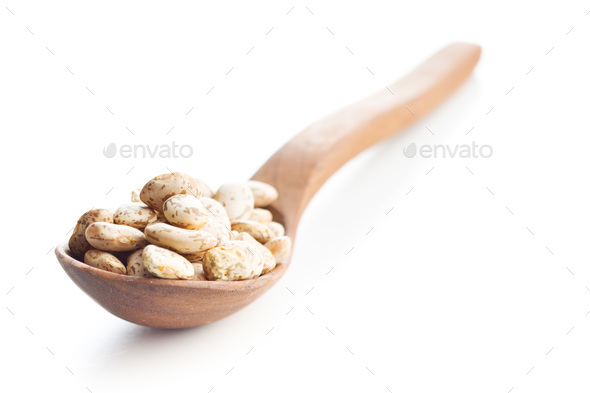 Dried borlotti beans. - Stock Photo - Images