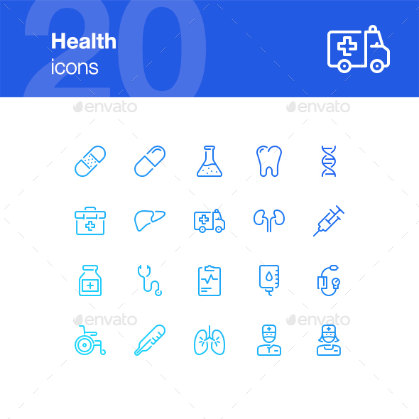 20 Health Icons - Miscellaneous Icons