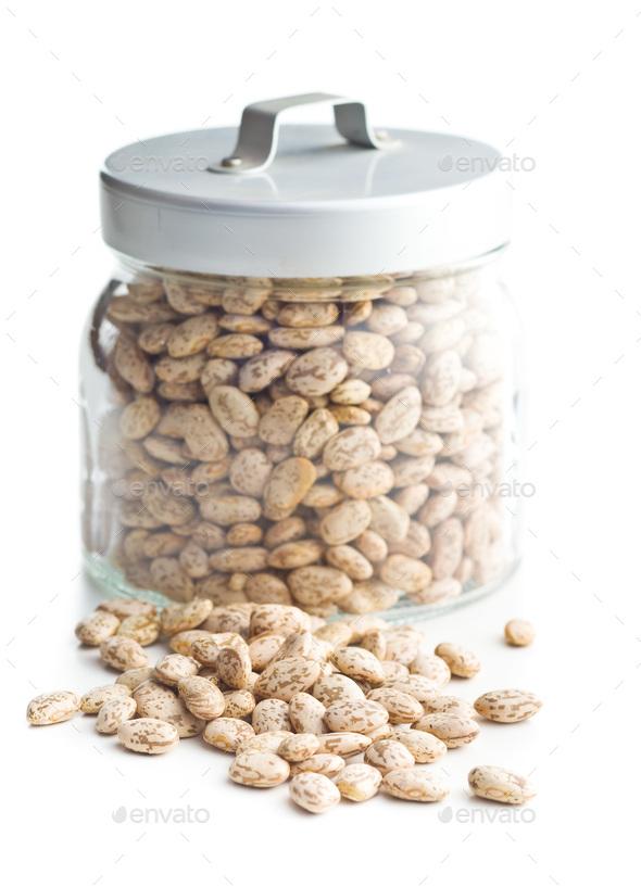 Dried borlotti beans. - Stock Photo - Images