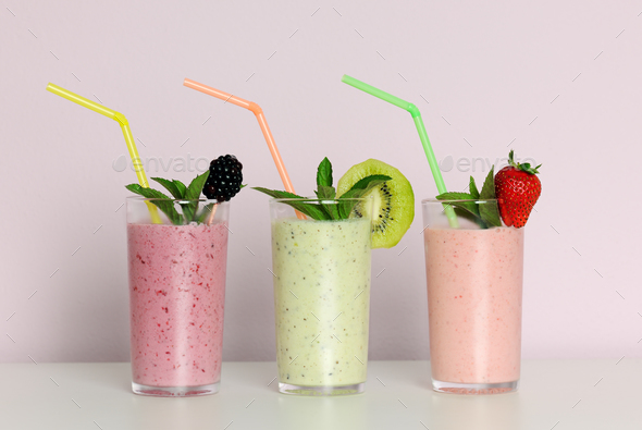 Fruit smoothies - Stock Photo - Images