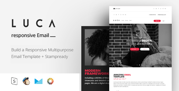 LUCA - Responsive Email + StampReady Builder