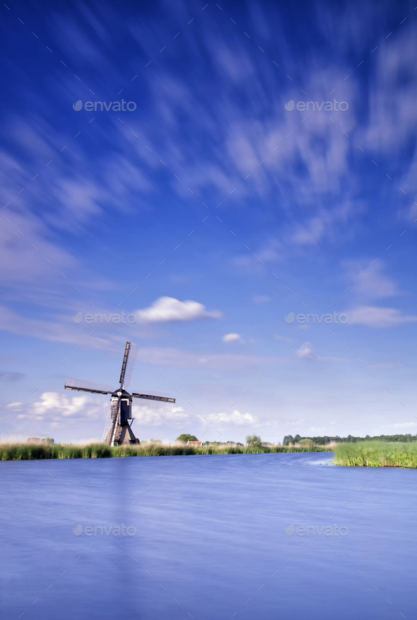 The Broekmill near Streefkerk - Stock Photo - Images