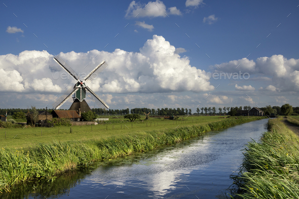 The Wingerdse windmill - Stock Photo - Images