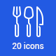20 Kitchen Icons - GraphicRiver Item for Sale