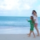 Beautiful Mother and Daughter on Caribbean Beach - VideoHive Item for Sale