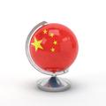 National Flag on Globe of China. 3D illustration. - PhotoDune Item for Sale