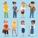 People Part-time Job Professions Vector Set - GraphicRiver Item for Sale