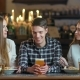 Happy Friends Sitting in Cafe While Eating and Drinking Alcohol. - VideoHive Item for Sale