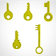 Golden Key set (5) - 3DOcean Item for Sale