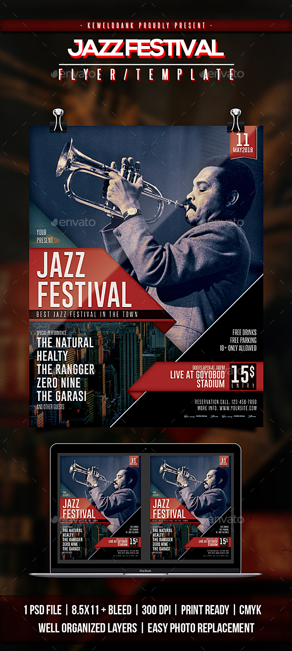 Jazz Festival Flyer & Poster - Events Flyers