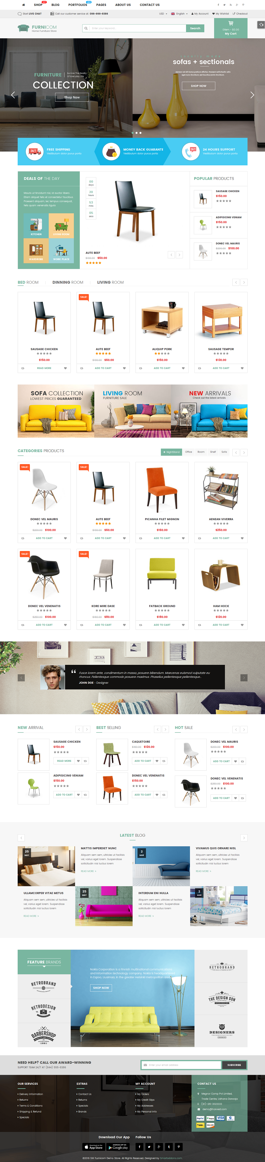 Furnicom   Fastest Furniture Store WooCommerce WordPress Theme (10  Homepages U0026 2 Mobile Layouts)
