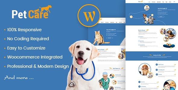 Petcare - Pet Shop and Pet Care WordPress Theme - Retail WordPress