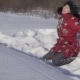 Teenage Girl Throws Snow in Winter Park - VideoHive Item for Sale