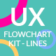 Usercible UX Flowchart Kit - Lines