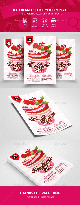Ice Cream Shop Flyer Templates - Commerce Flyers