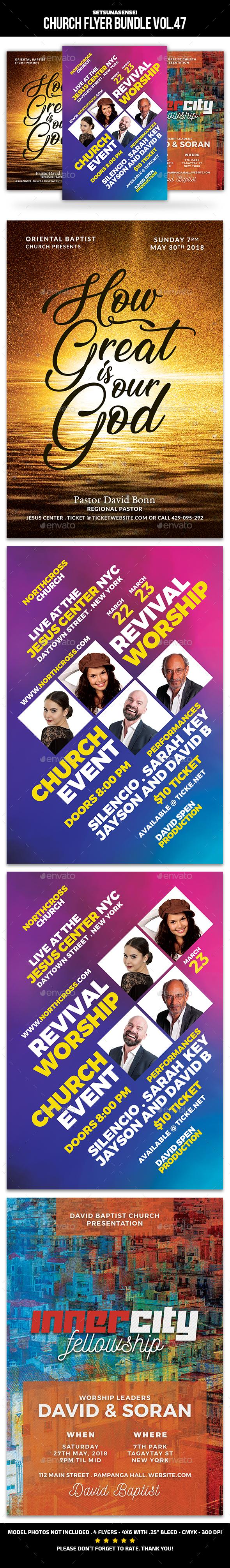 Church Flyer Bundle Vol. 47 - Church Flyers