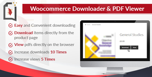 WooCommerce Downloader and PDF Viewer - CodeCanyon Item for Sale