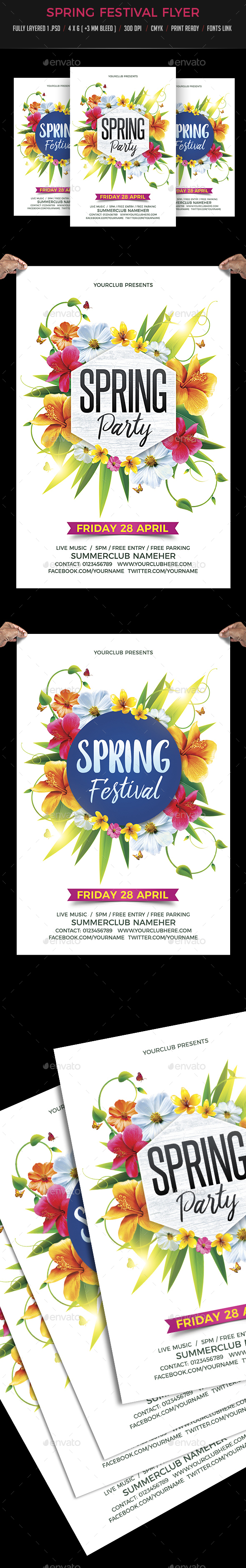 Spring Festival - Events Flyers