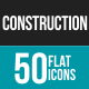 50 Construction Grey Scale Icons - GraphicRiver Item for Sale
