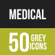 50 Medical Grey Scale Icons - GraphicRiver Item for Sale