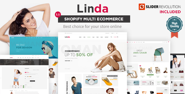Image of Linda - Mutilpurpose eCommerce Shopify Theme