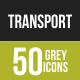 50 Transportation Grey Scale Icons - GraphicRiver Item for Sale