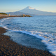 Mountain Fuji and beach at sunrise view from Suruga Bay, Shizuoka, Japan - PhotoDune Item for Sale