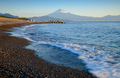 Mountain Fuji and beach at sunrise view from Suruga Bay, Shizuoka, Japan - PhotoDune Item for Sale