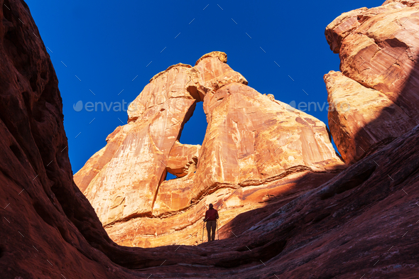 Hike in Canyonlands - Stock Photo - Images
