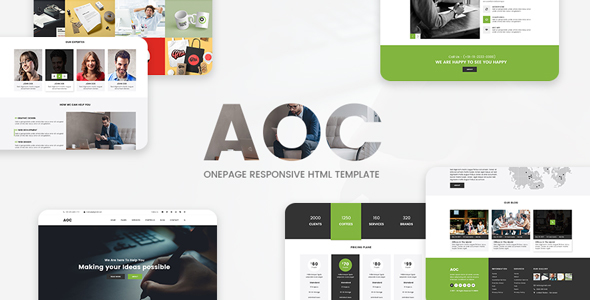 Image of AOC - Onepage Responsive Html Template