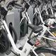 Charging electric bikes in the city. Urban green transportation. Horizontal - PhotoDune Item for Sale