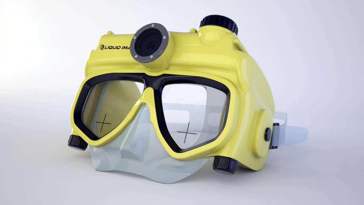 underwater mask with camera
