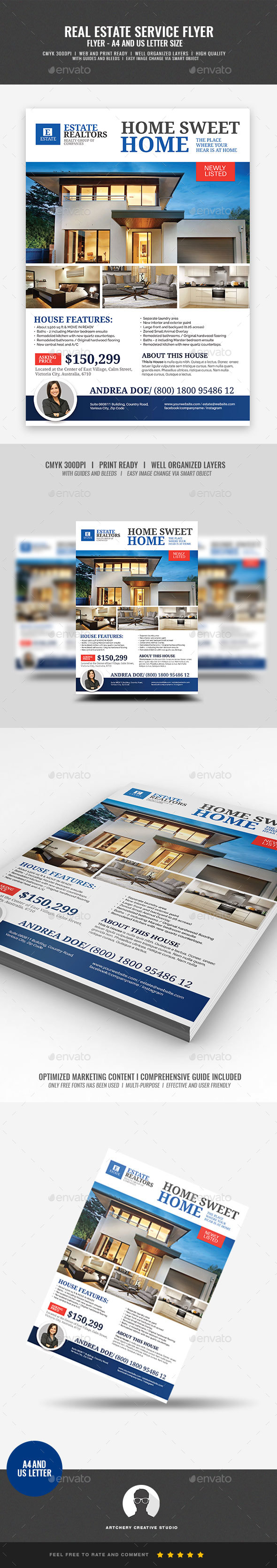 Real Estate Modern House Listing Flyer - Corporate Flyers