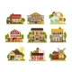 Farm Houses and Buildings Set, Agriculture - GraphicRiver Item for Sale