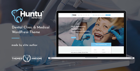 Huntu | Dental Clinic & Medical WordPress Theme