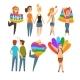 Lgbt People Community Celebrating Gay Pride, Love