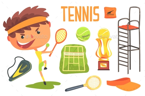 Boy Tennis Player,Kids Future Dream Professional - Man-made Objects Objects