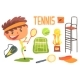 Boy Tennis Player,Kids Future Dream Professional - GraphicRiver Item for Sale