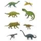 Dinosaurs Set, Triceratops, Barosaurus