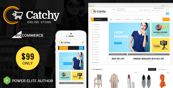 Catchy - Multipurpose Stencil BigCommerce Theme