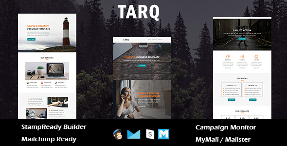 Tarq - Multipurpose Responsive Email Template With Online StampReady Builder Access