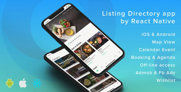 ListApp - Listing Directory mobile app by React Native - CodeCanyon Item for Sale