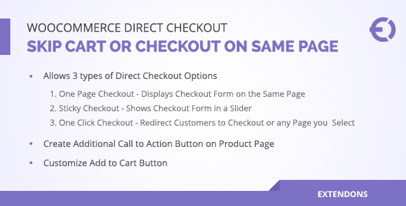 Woocommerce Direct Checkout, Skip Cart / Checkout on Same Page - CodeCanyon Item for Sale